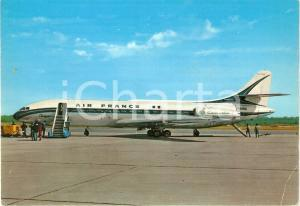 1965 ca MILANO Aeroporto MALPENSA - AIR FRANCE Sud aviation CARAVELLE Cartolina