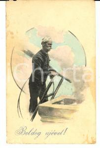 1914 HUNGARY A chimney sweep - Boldog ujevet HAPPY NEW YEAR *Postcard