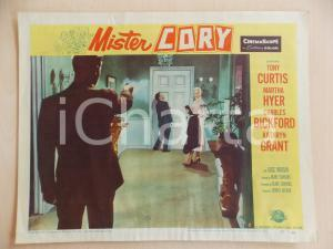 1957 MISTER CORY Tony CURTIS colpito alle spalle *Manifestino LOBBY CARD