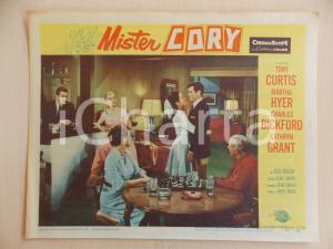 1957 MISTER CORY Tony CURTIS Kathryn GRANT Scacchi *Manifestino LOBBY CARD