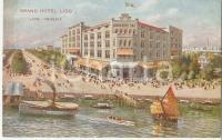 1910 ca VENEZIA Grand Hotel Lido *Cartolina ILLUSTRATA FP NV