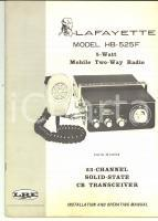 1971 NEW YORK LAFAYETTE RADIO - Model HB-525F Installation and operating manual