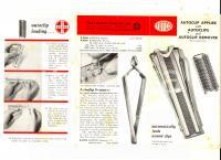 1954 NY CLAY-ADAMS COMPANY Autoclip applier with autoclips *Brochure