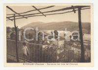1950 ca RIVERGARO Panorama con vista del Pillerone -Cartolina ANIMATA FG NV